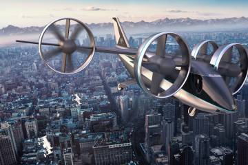Bell's full-size Nexus concept for an electric vertical takeoff and landing craft