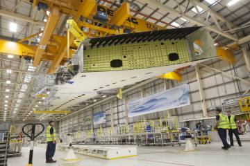 Airbus UK wing factory in Broughton