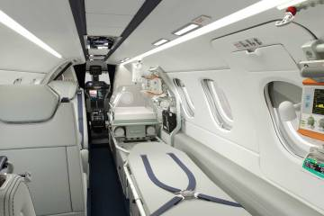 Interior of Phenom 300MED