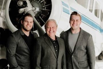 Duncan Aviation chairman Todd Duncan and his sons