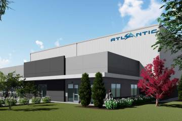 Artist rendering of the under construction hangar at PWK