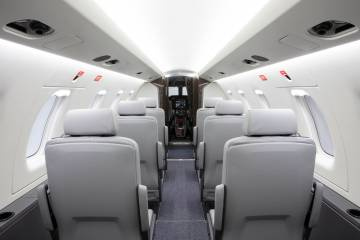 PC-24 high-density seating configuration
