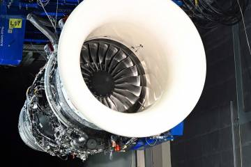 Rolls-Royce Pearl 700 engine on test stand