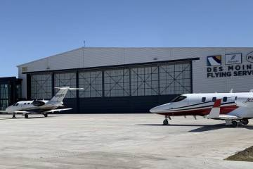 New Des Moines Flying Service facility at DSM