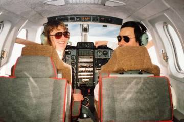 Margrit Waltz fTBM 700 ferry flight with TBM test pilot Christian Briand (Photo: Daher)