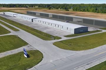 Artist rendering of new hangar complex at First Wing Jet Center