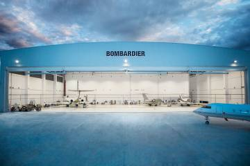 Bombardier's factory service center in Singapore