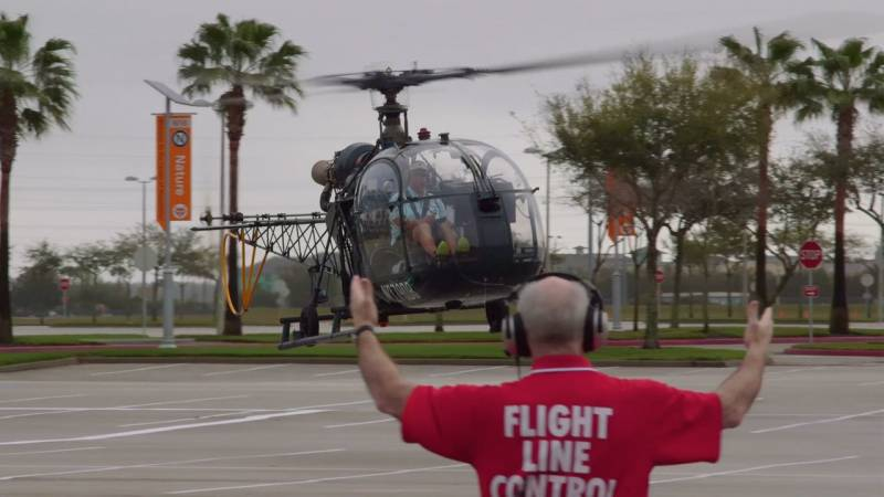 Sud SA-318C Helicopter Lands at HAI HeliExpo 2015