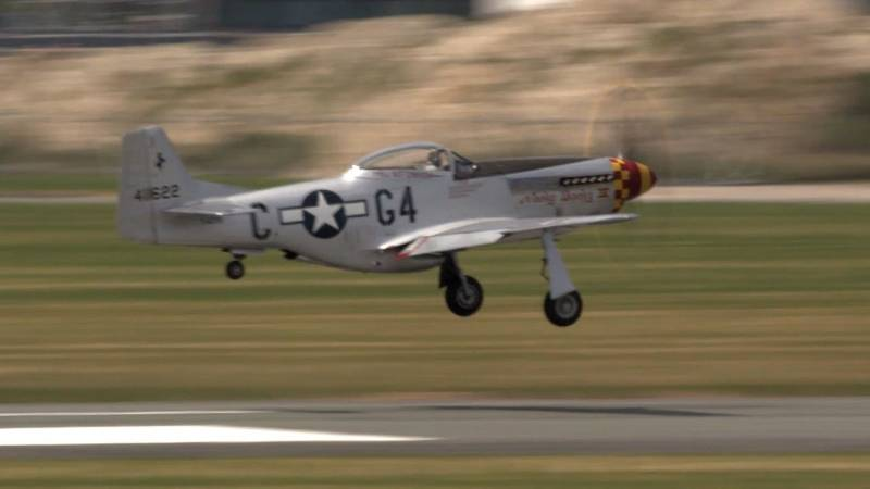 P-51 Mustang Roars Over Le Bourget at Paris Air Show 2015