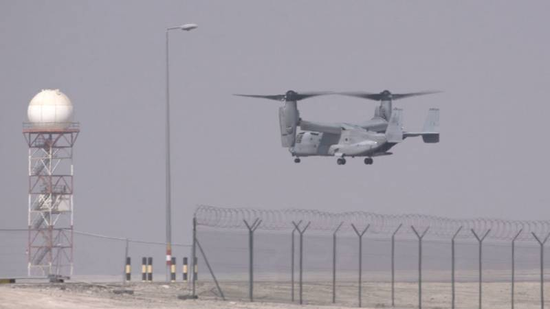 Bell Boeing MV-22 Osprey Arrives at Dubai Airshow