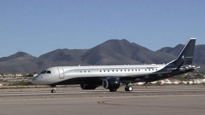 Flying to Las Vegas on the Embraer Lineage 1000 Business Jet