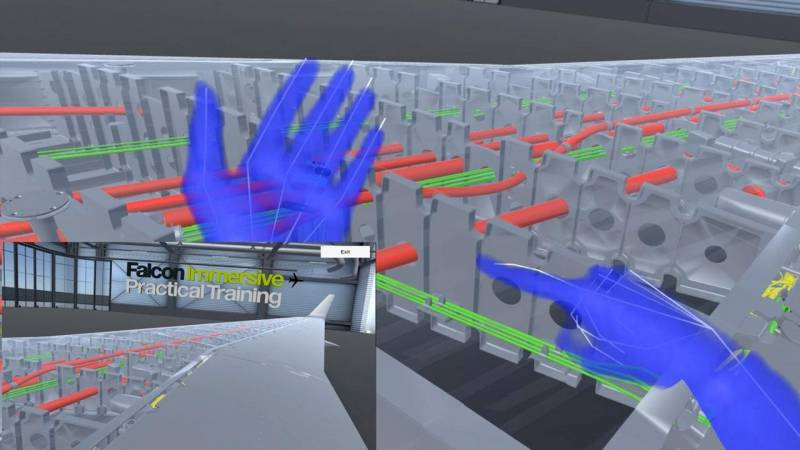 How Virtual Reality Tools Train Dassault Falcon Aircraft Mechanics