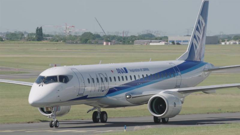Mitsubishi's MRJ90 Airliner Makes Public Debut with ANA Livery at Paris Air Show 2017