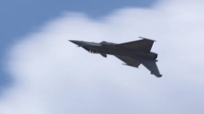 Dassault's Rafale Fighter Flying Display at Paris Air Show 2017