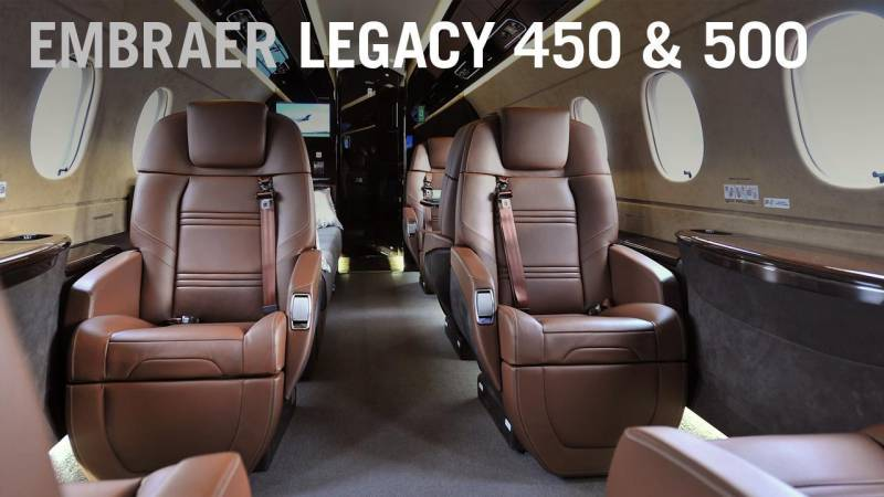 Embraer Debuts New Seat Design for Legacy 450 and 500 Business Jets