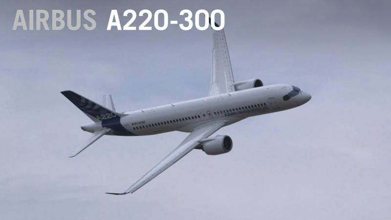 Airbus A220 Flies at Farnborough Airshow