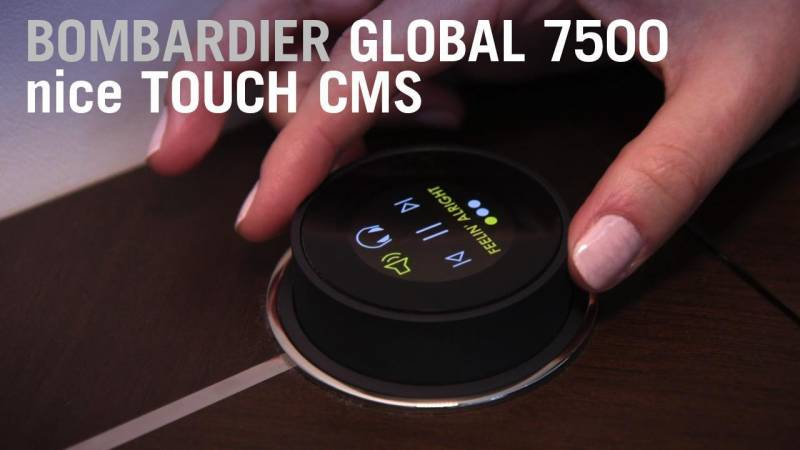 Bombardier's Global 7500 nice Touch OLED CMS Control Knob