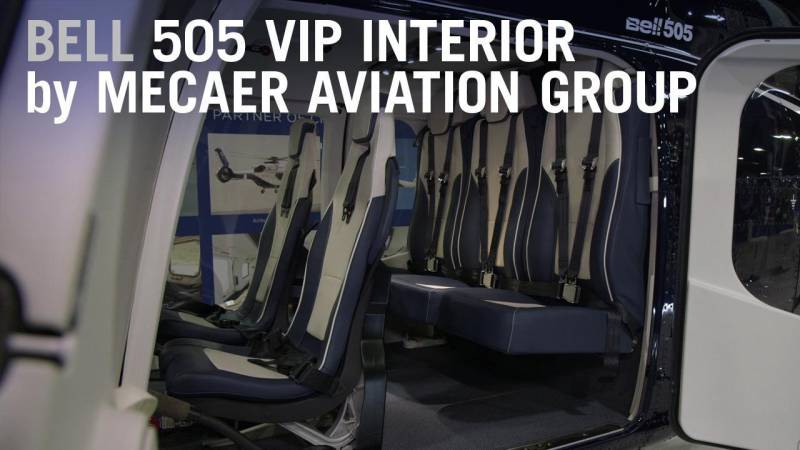 """Check out Mecaer's """"Magnificent"""" Interior for the Bell 505"""
