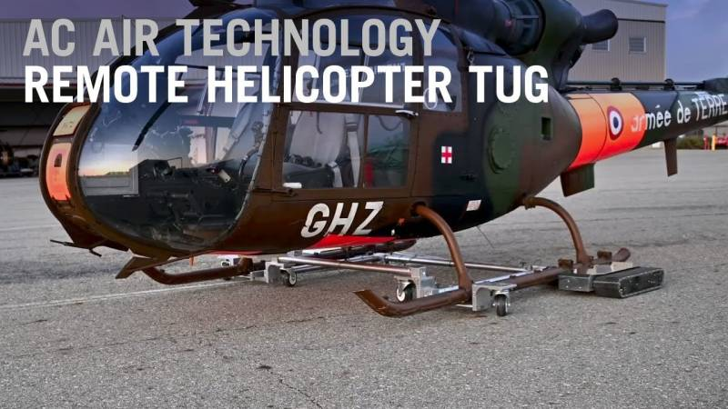 AC Air Introduces Remote Helicopter Tow Tug
