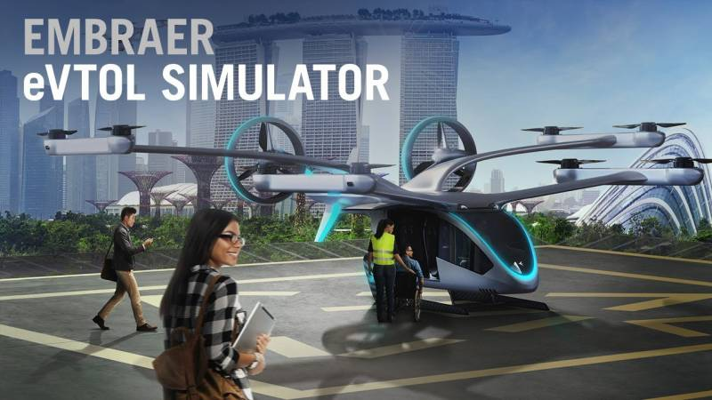 How a Flight Simulator Gives Us an Early Glimpse of EmbraerX's new eVTOL Aircraft