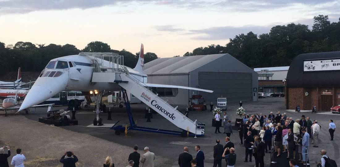 Brooklands Concorde Boom reception during Farnborough Airshow week.