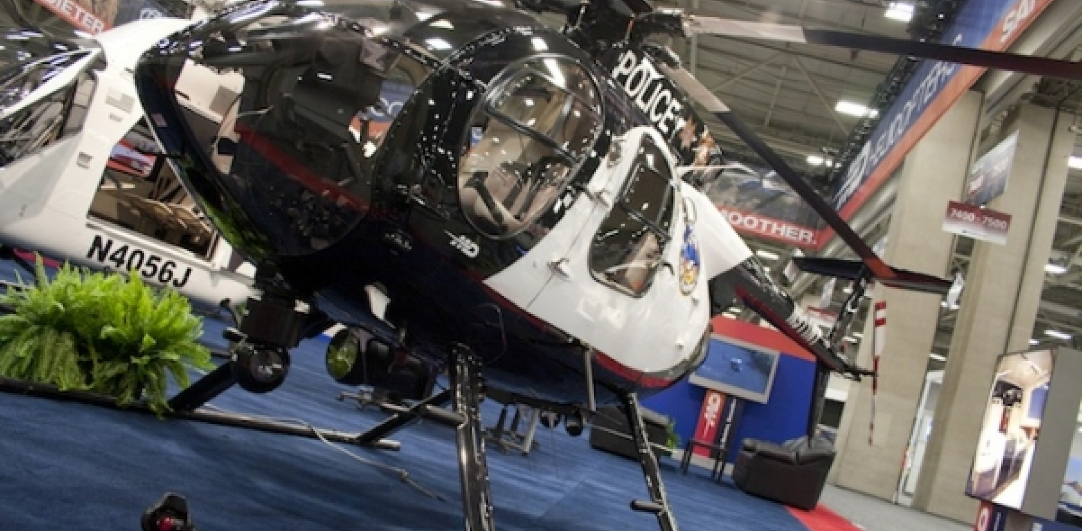 MD Helicopters  369 on display at their booth. (Photo Andrew Zaback)