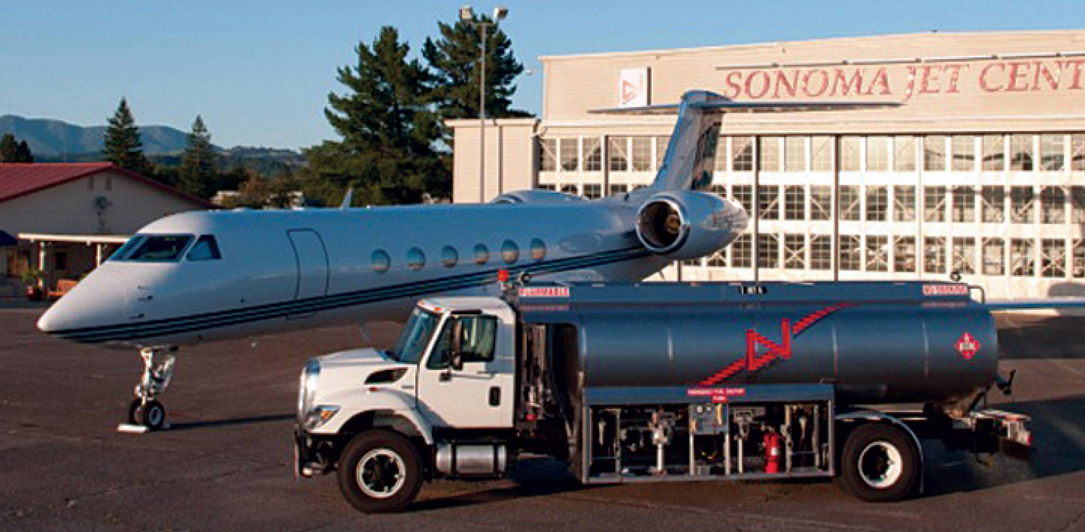 The facility has a pair of new 5,000-gallon jet-A tankers and two 750-gallon avgas trucks that distribute fuel from the tank farm.