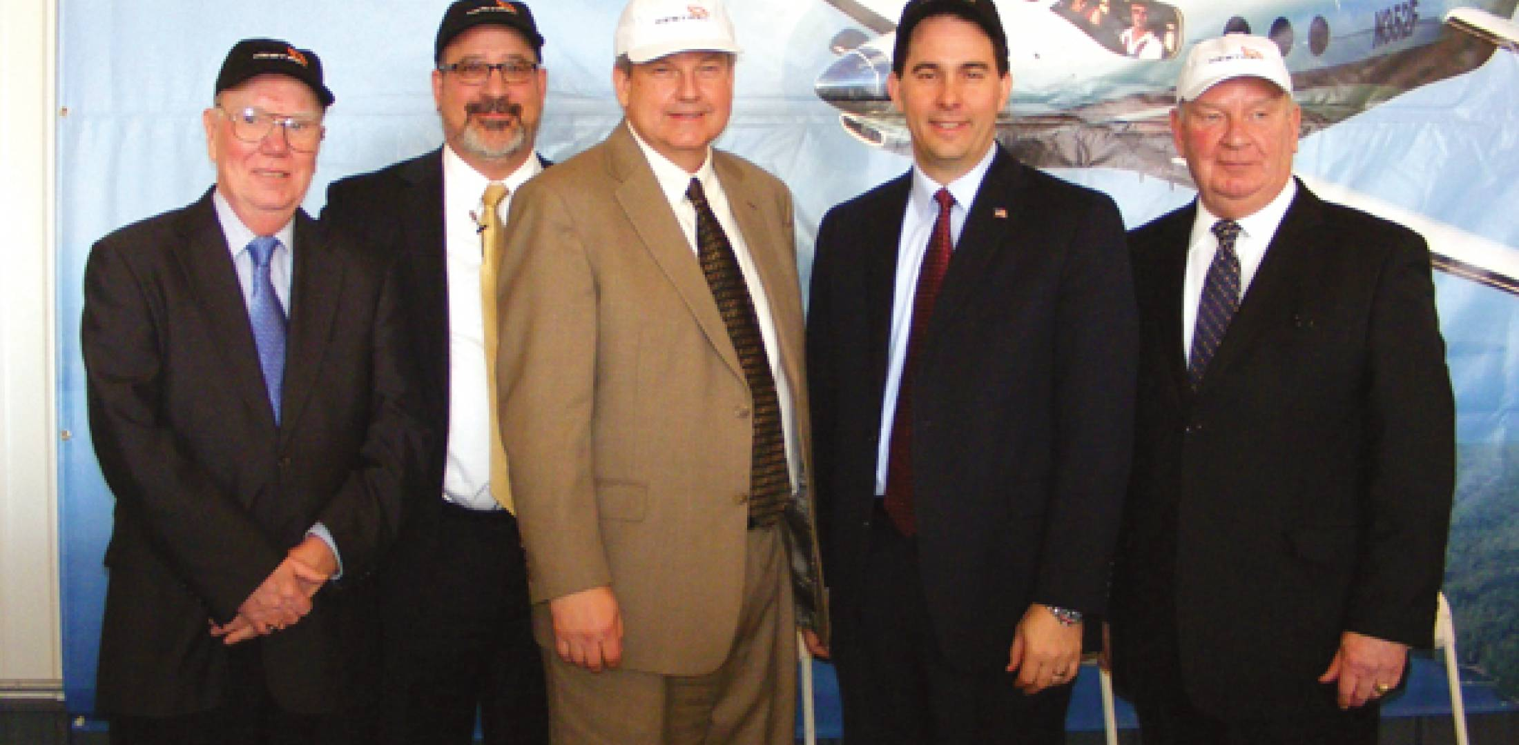 (L to r) Doug Finn, Douglas County Board; Dave Minor, Superior Chamber of Commer