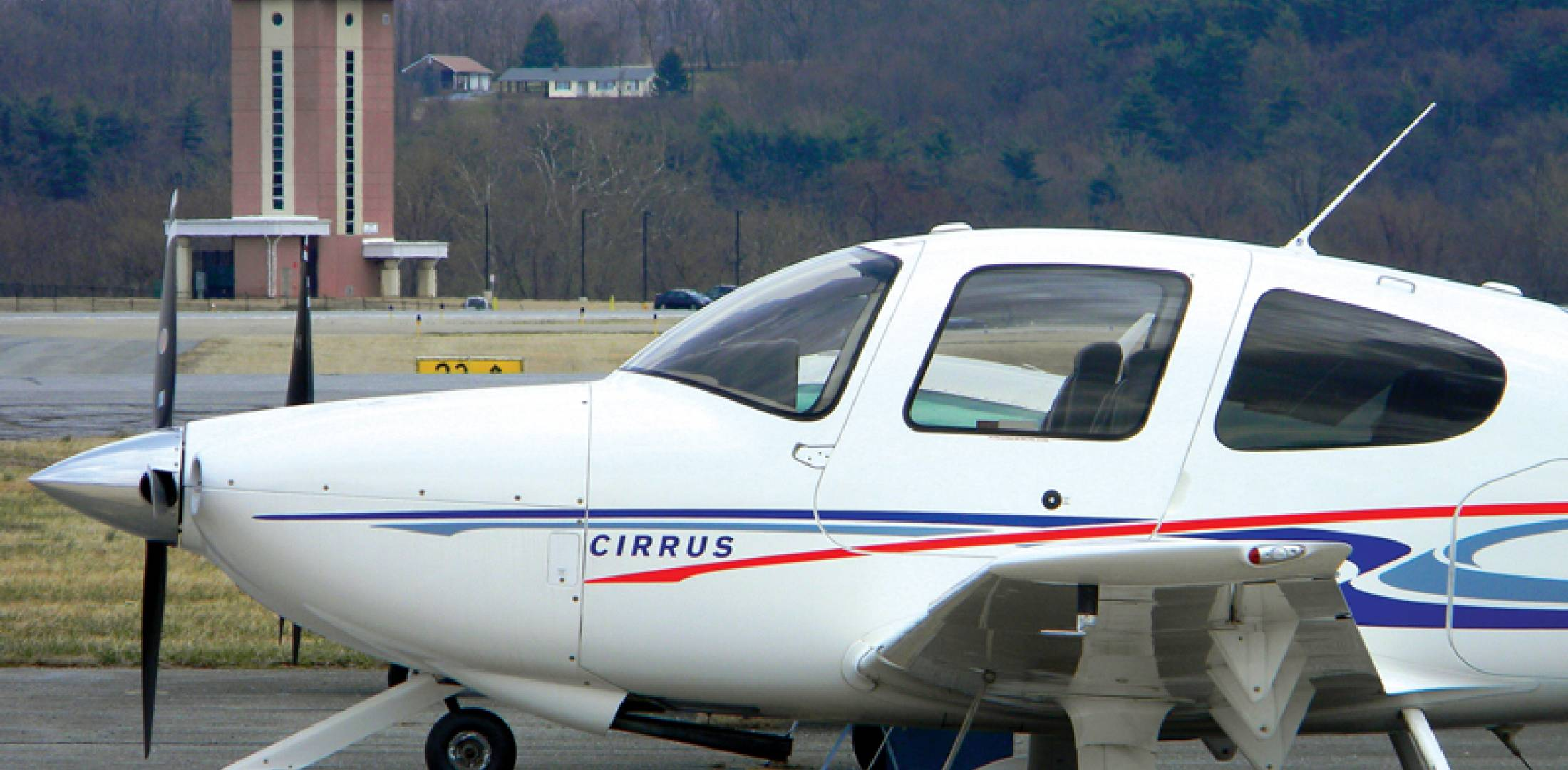 The tower at Frederick Municipal Airport in western Maryland is one of the contract towers on the FAA's closure list. It was built with $5.3 million in federal stimulus money and occasionally handles Marine Corps presidential helicopters if the weather at nearby Camp David is bad. (Photo: Bill Carey)