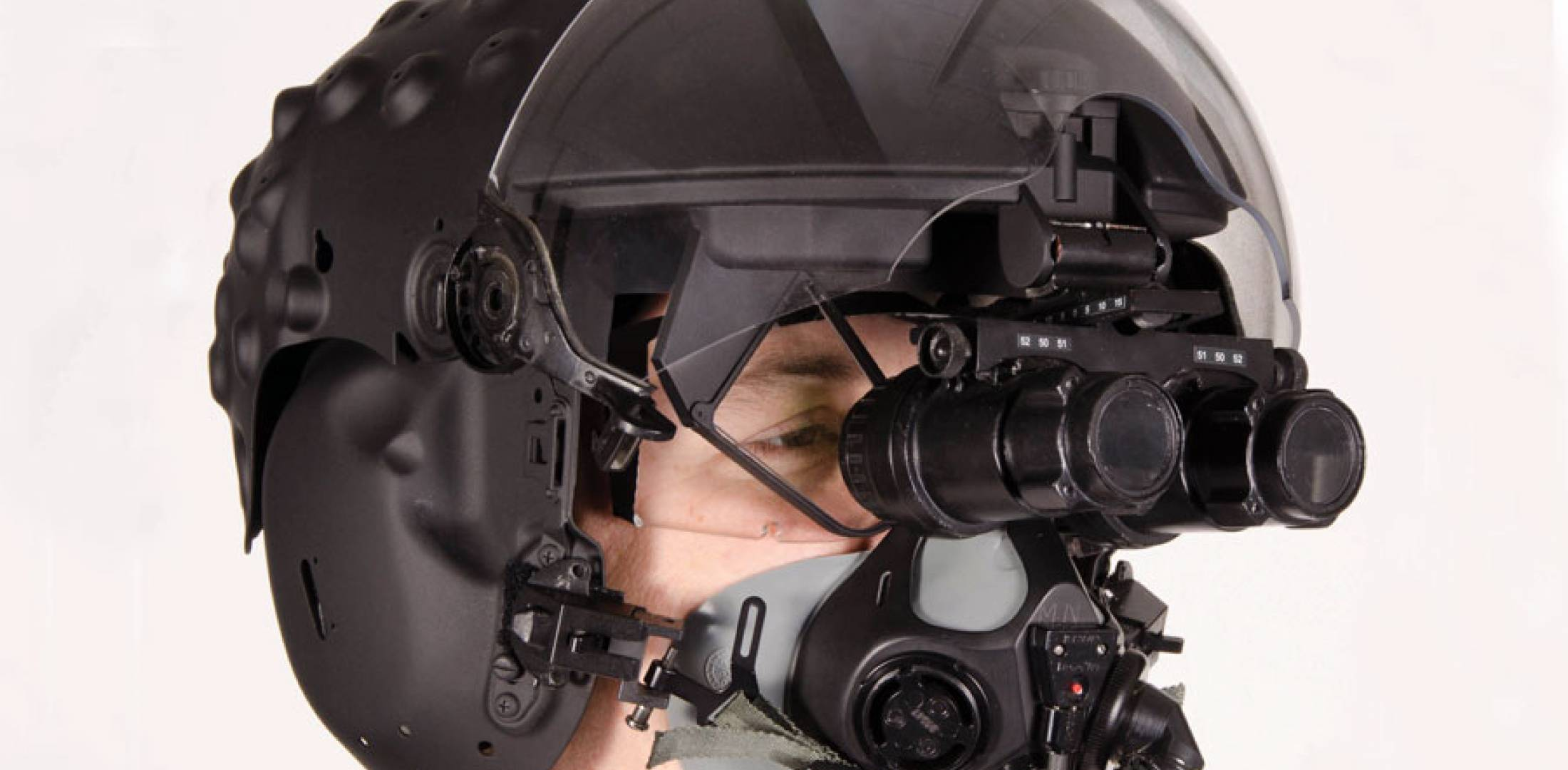 BAE Systems' alternate helmet-mounted display system for the F-35, above,  would combine Q-Sight display in front of the eye with pull-down  night-vision ...