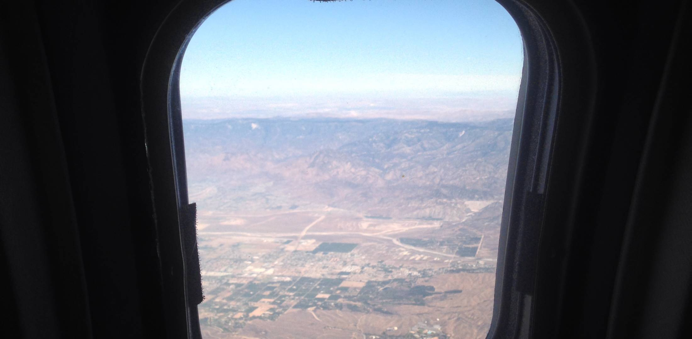 View from a business jet