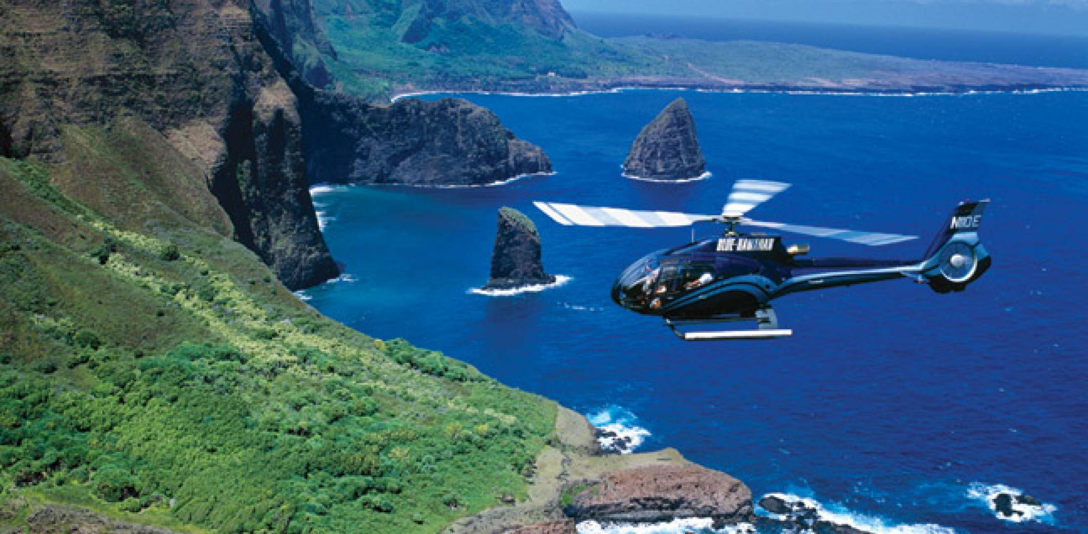 Air-tour operator Blue Hawaiian flies its 24-strong Eurocopter fleet on five of the state's six islands.