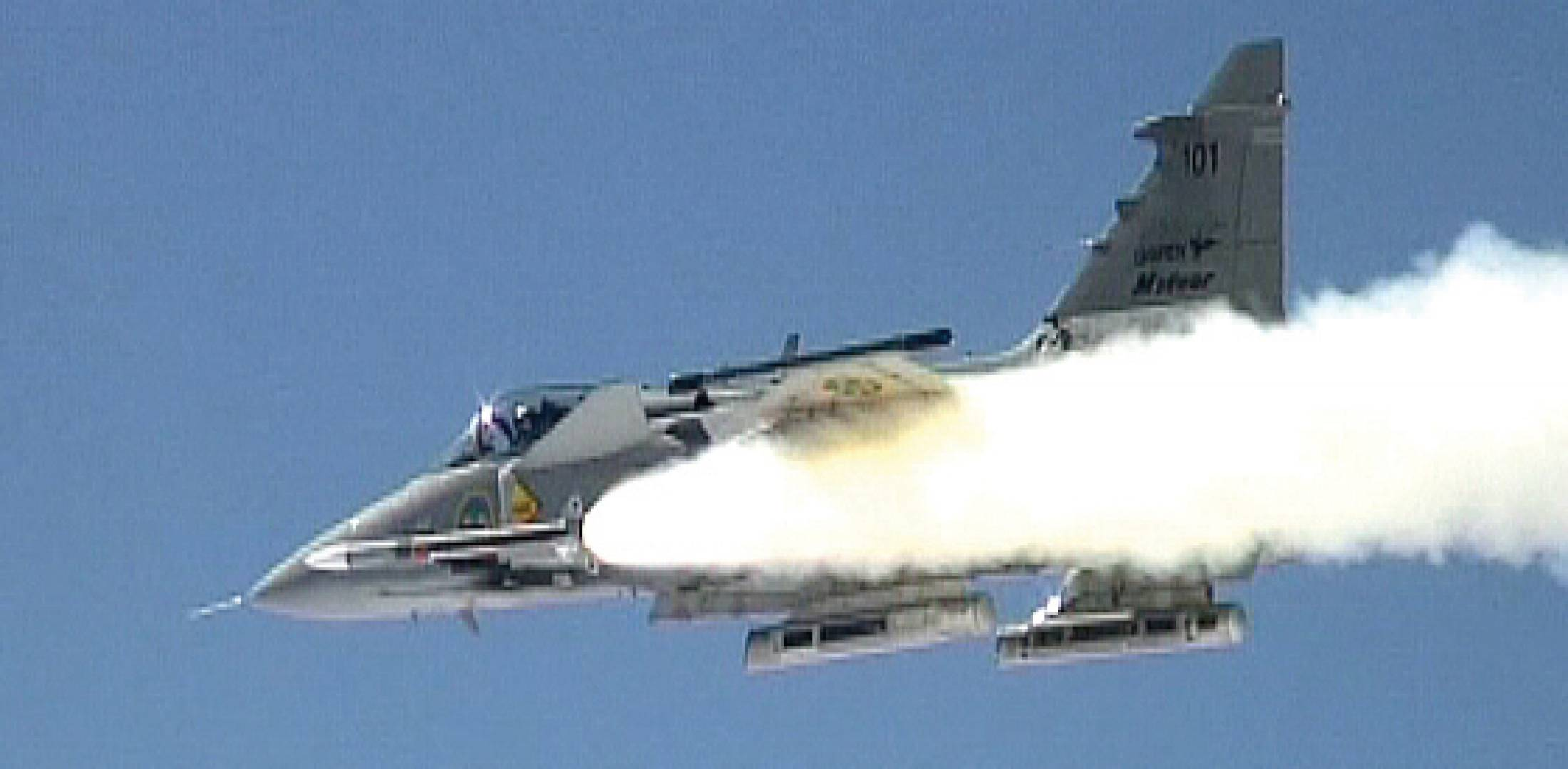 The Saab Gripen did the first eight development firings of the MBDA Meteor BVRAAM. The European missile house chose the Swedish fighter in preference to the Rafale or the Eurofighter, but the Meteor has since been integrated on all three aircraft.