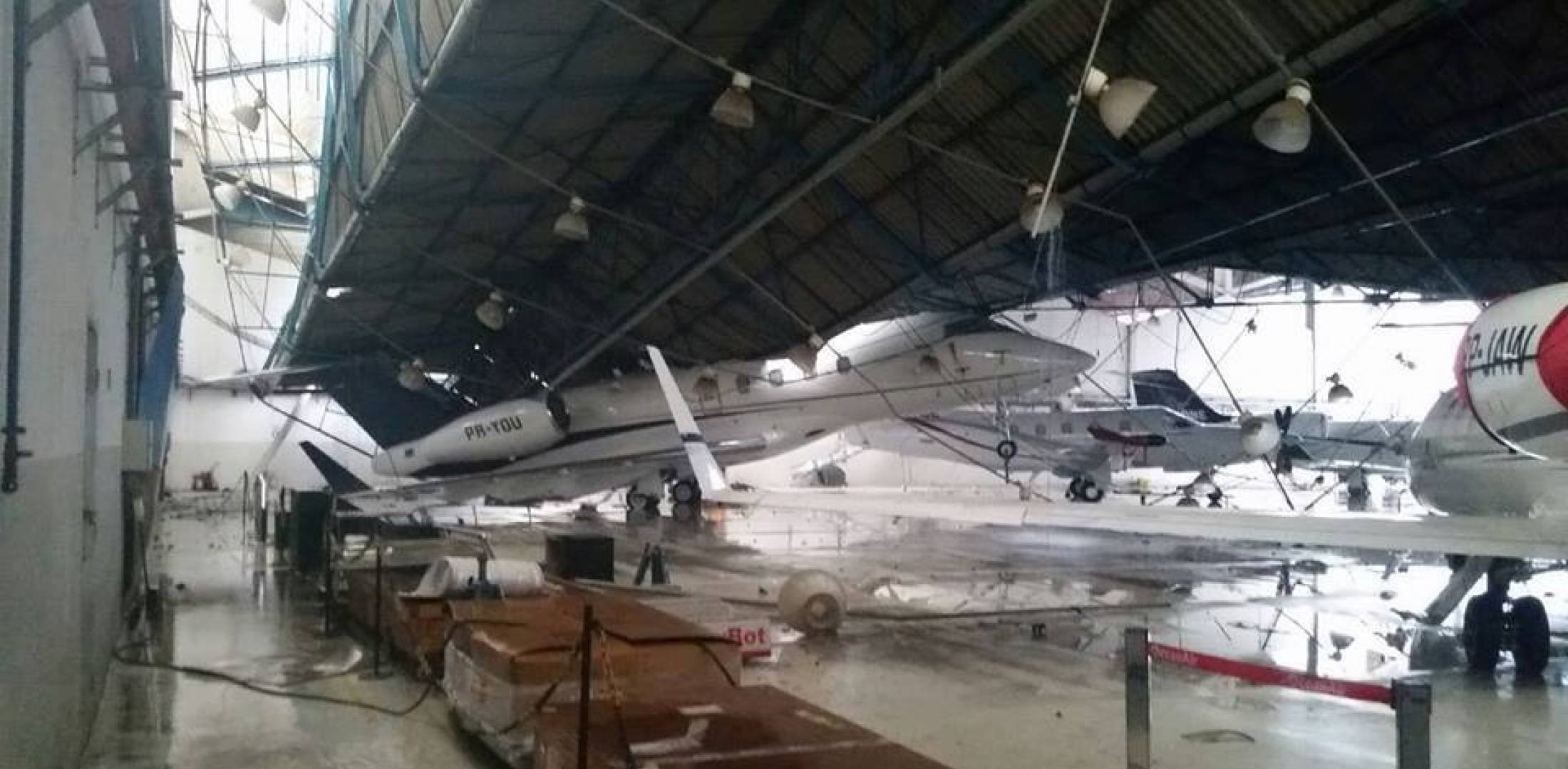 Challenger 300 damaged
