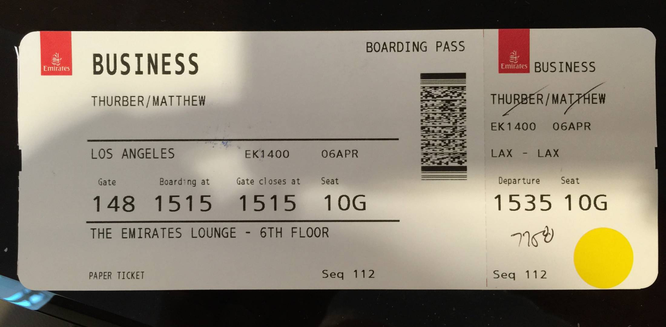 Ticket to Living in the Age of Airplanes