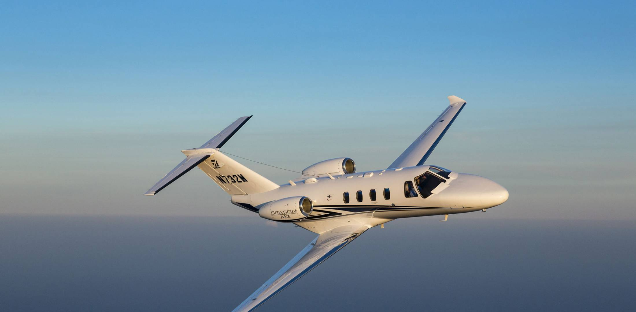 Citation M2 in flight