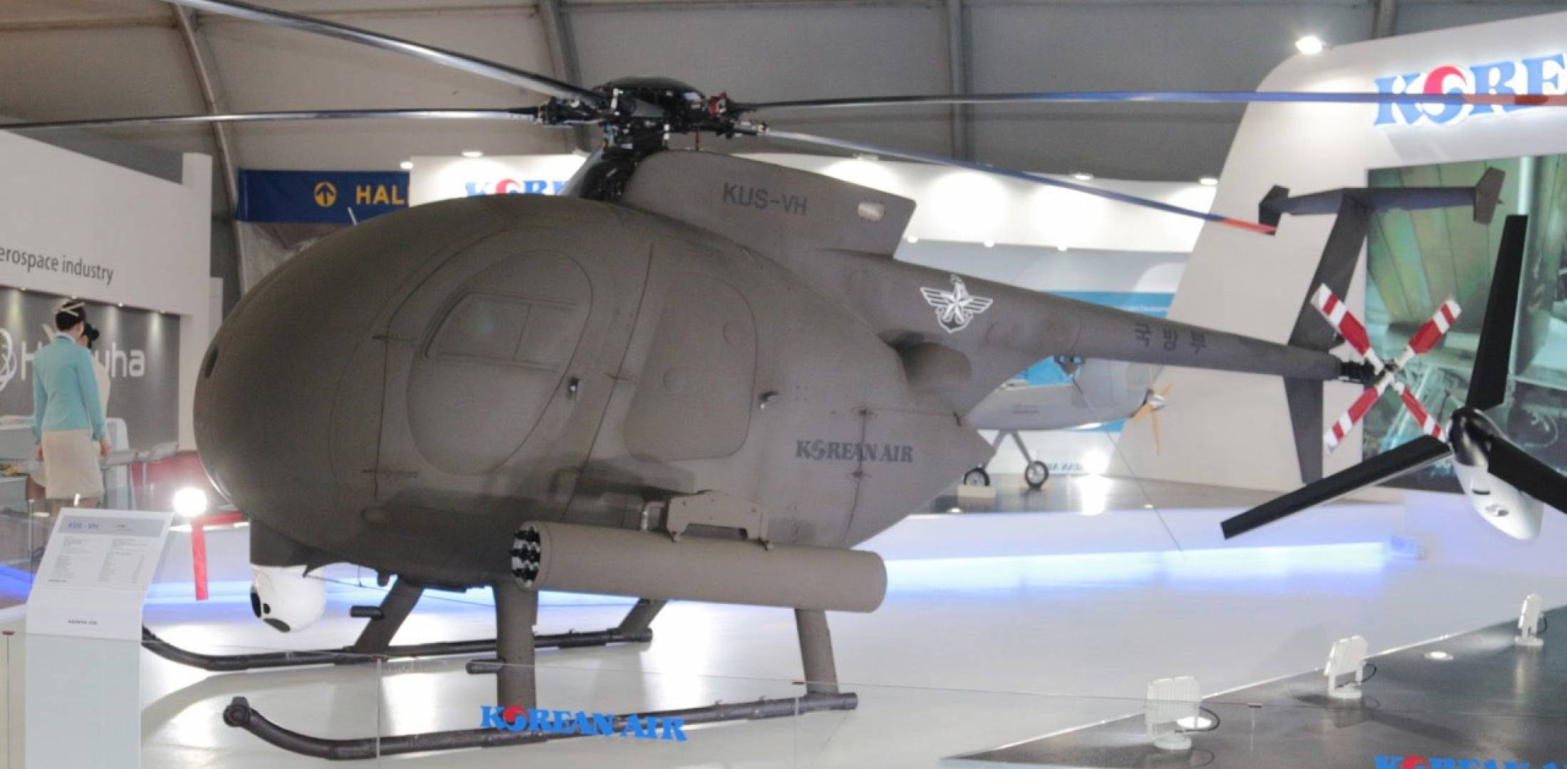 Unmanned MD500 on display
