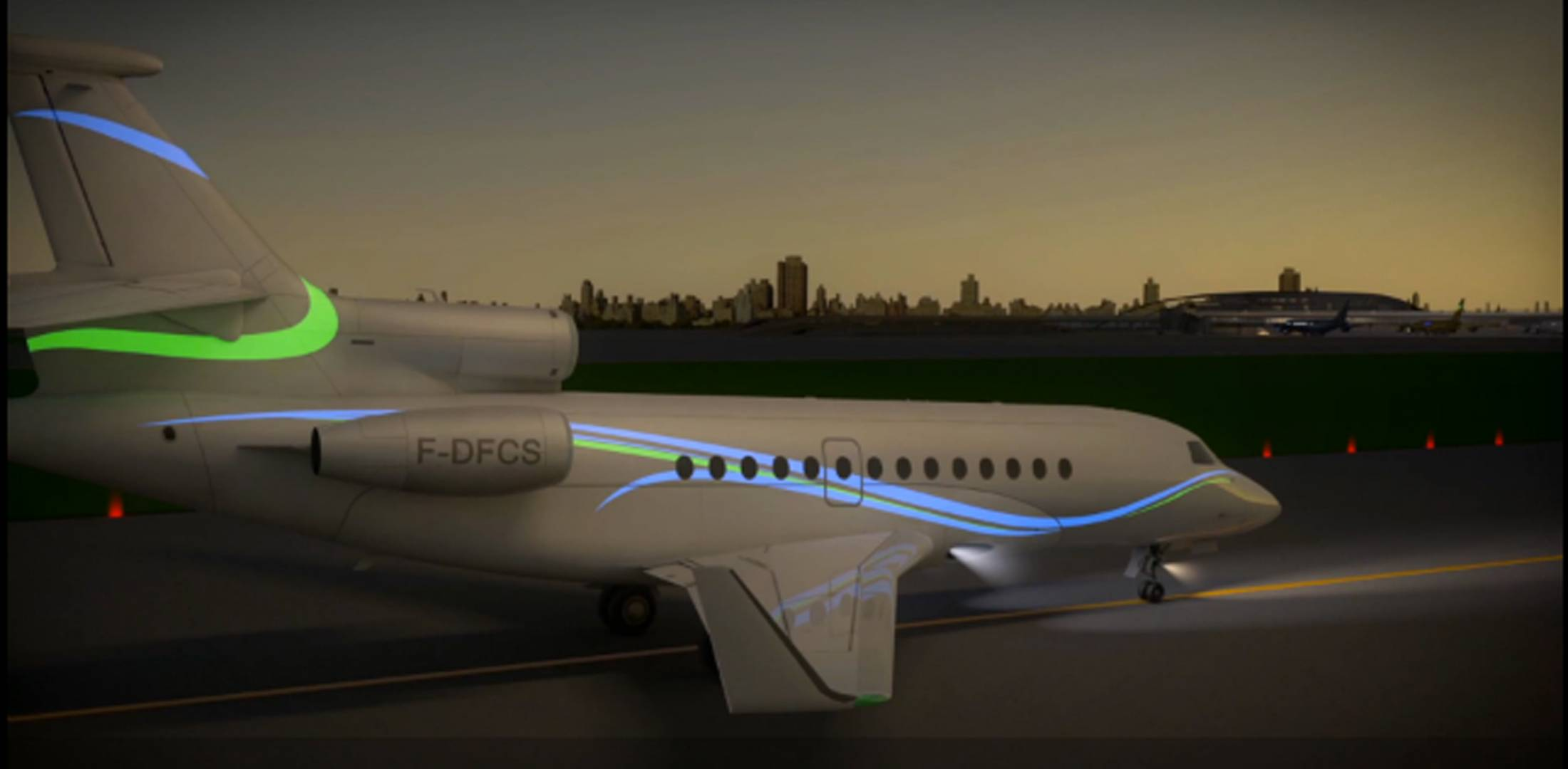 Aircelle Is Now Offering Its Electroluminescent Variable Display Lighting For Business Aircraft Photo