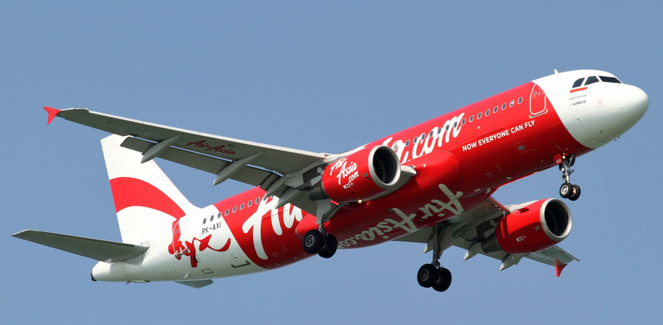 Air Asia aircraft in flight