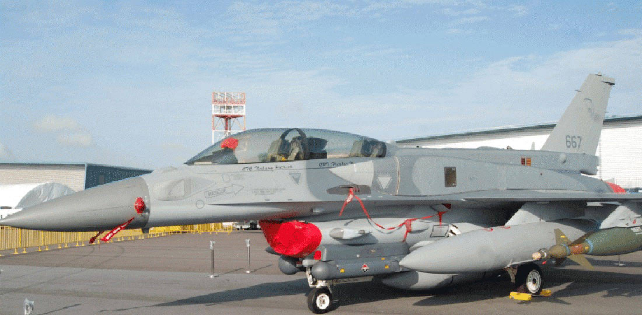 F-16D-Plus on static display