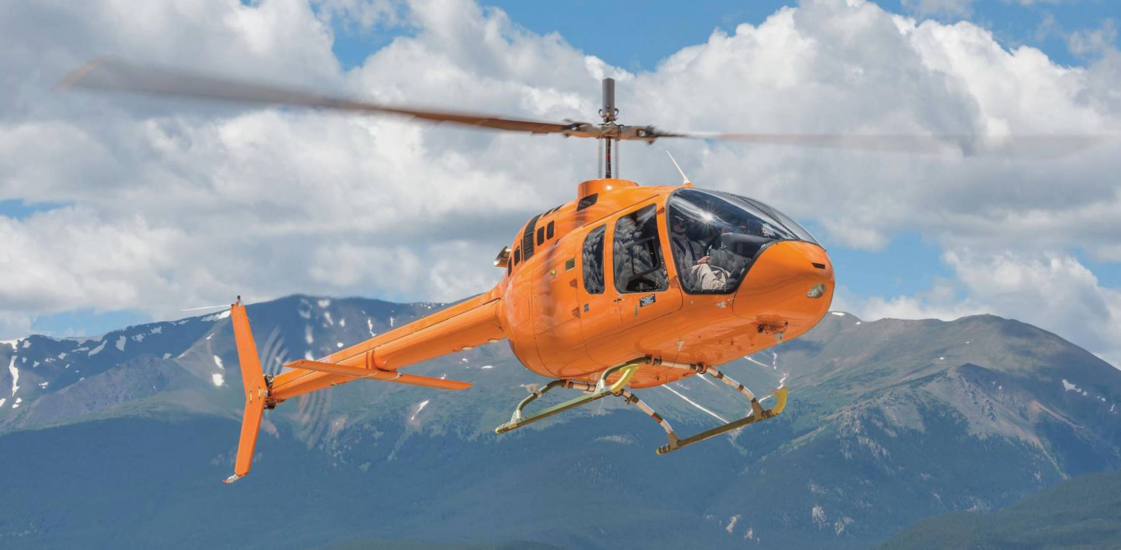 Bell 505 flight-test vehicle 1 made its first flight in November 2014.
