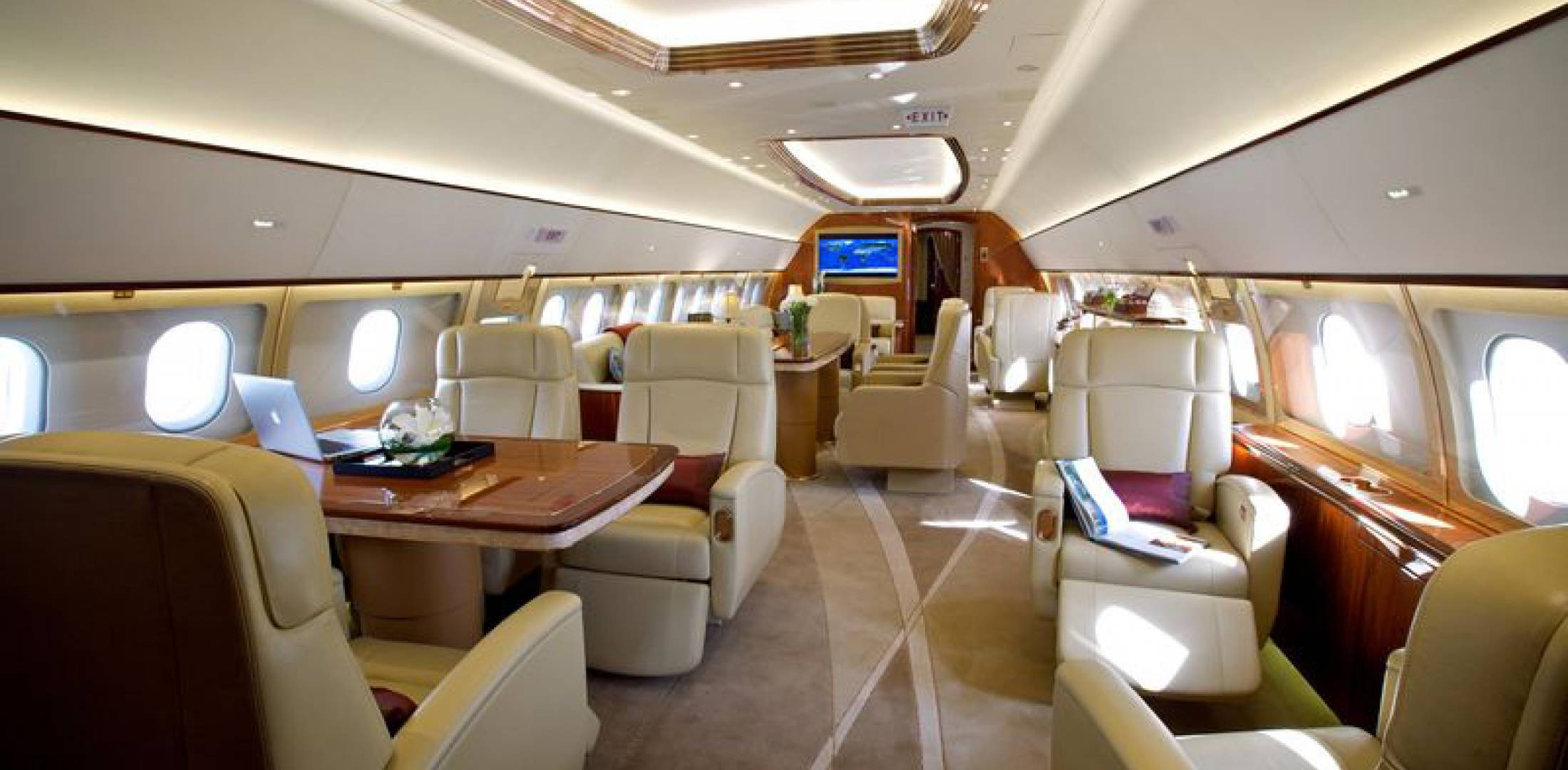 Beautiful Comlux Aviationu0027s Facility In Indianapolis Performs Luxury Cabin  Completions Like This ACJ319 Aircraft. [Photo: Comlux]