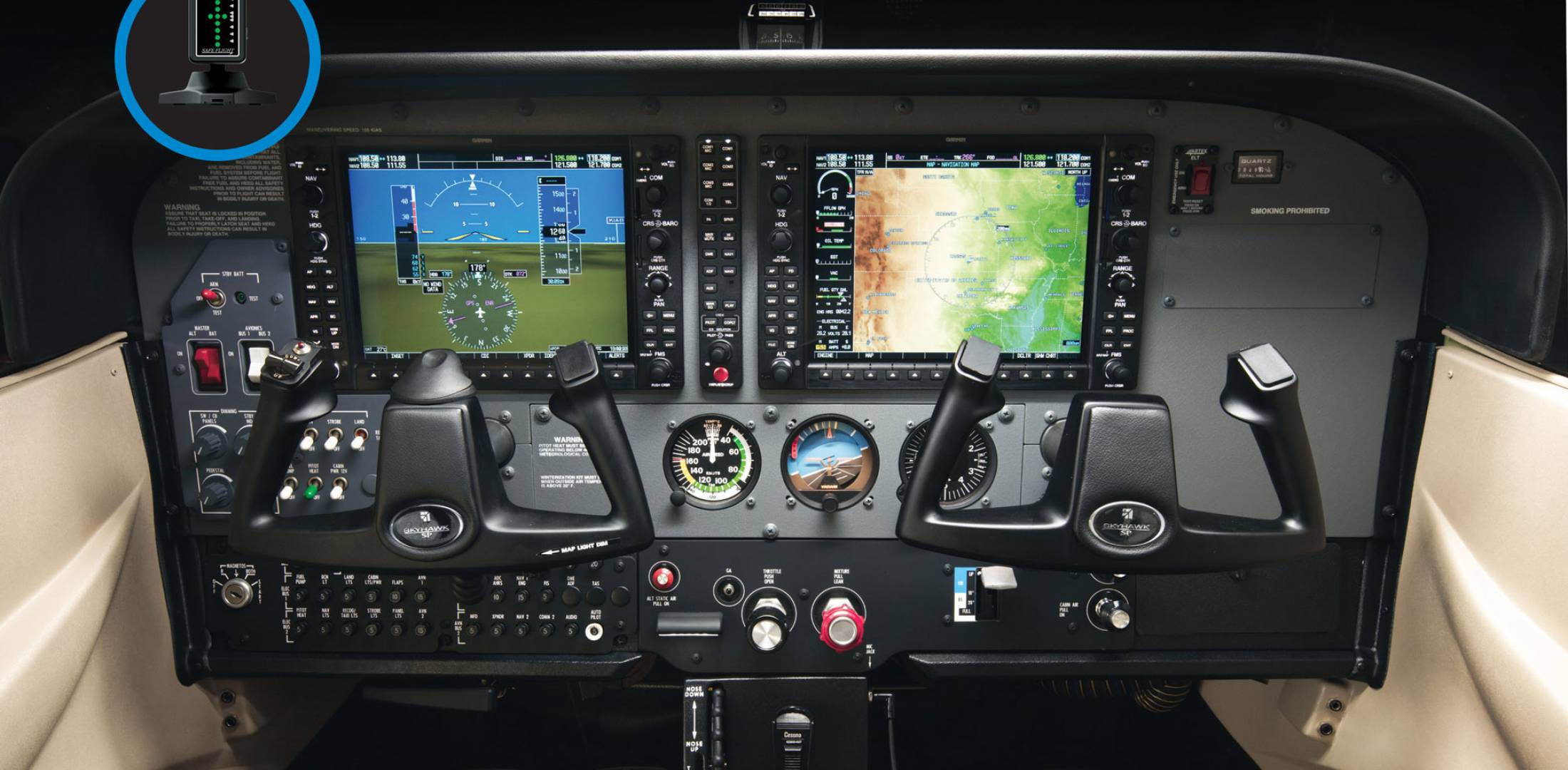Cessna 172 with AoA system