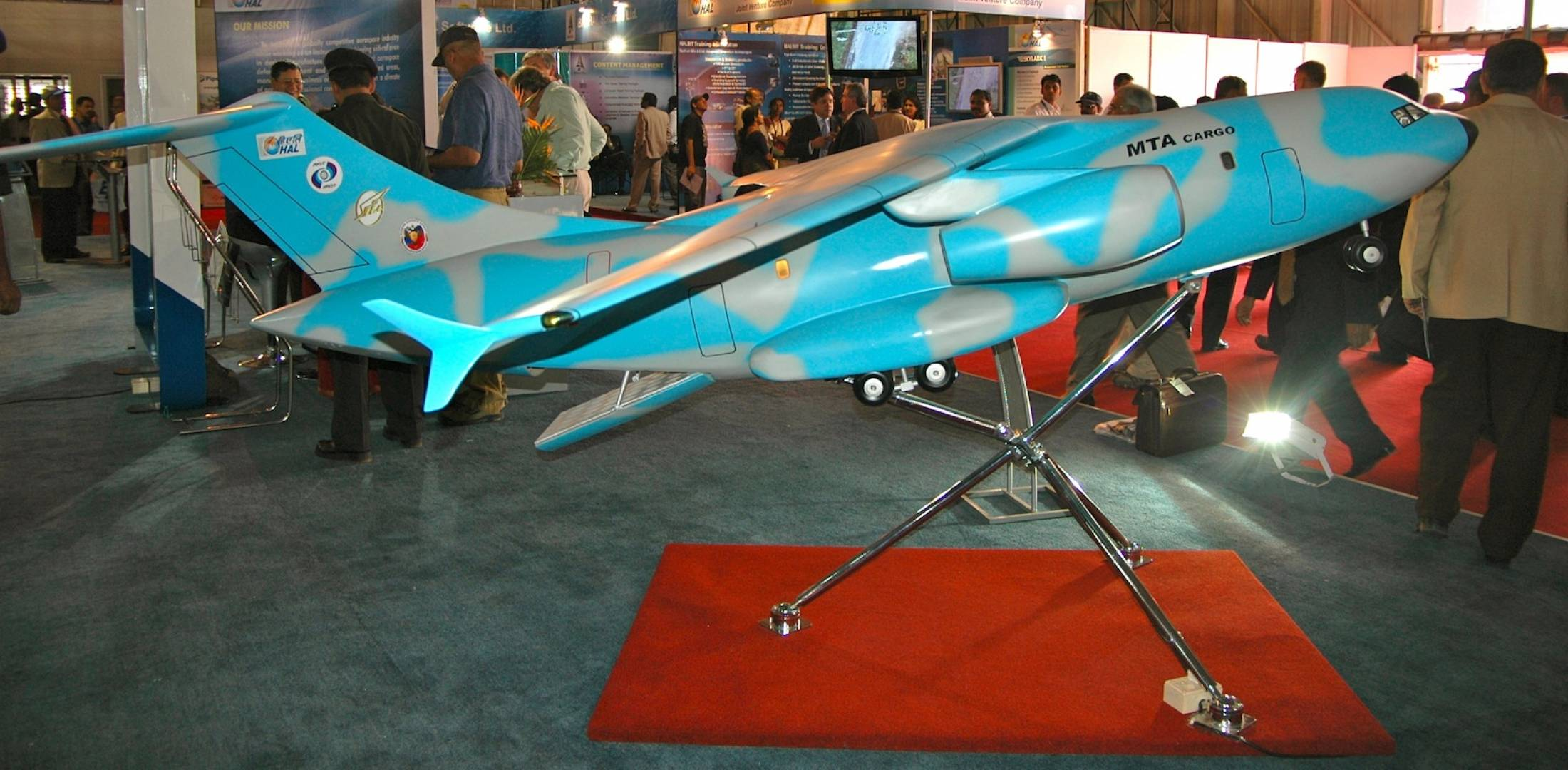 Scale model of the Il-214 medium transport