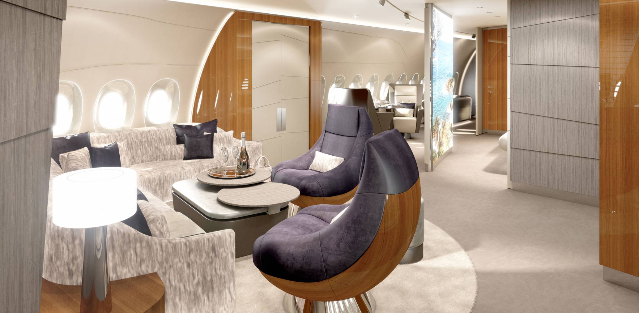 Lufthansa Technik S Home Interior Concept Starts With The Realization That Pengers On Vip Airbus A350s Have A Lifestyle Combines Family Travel