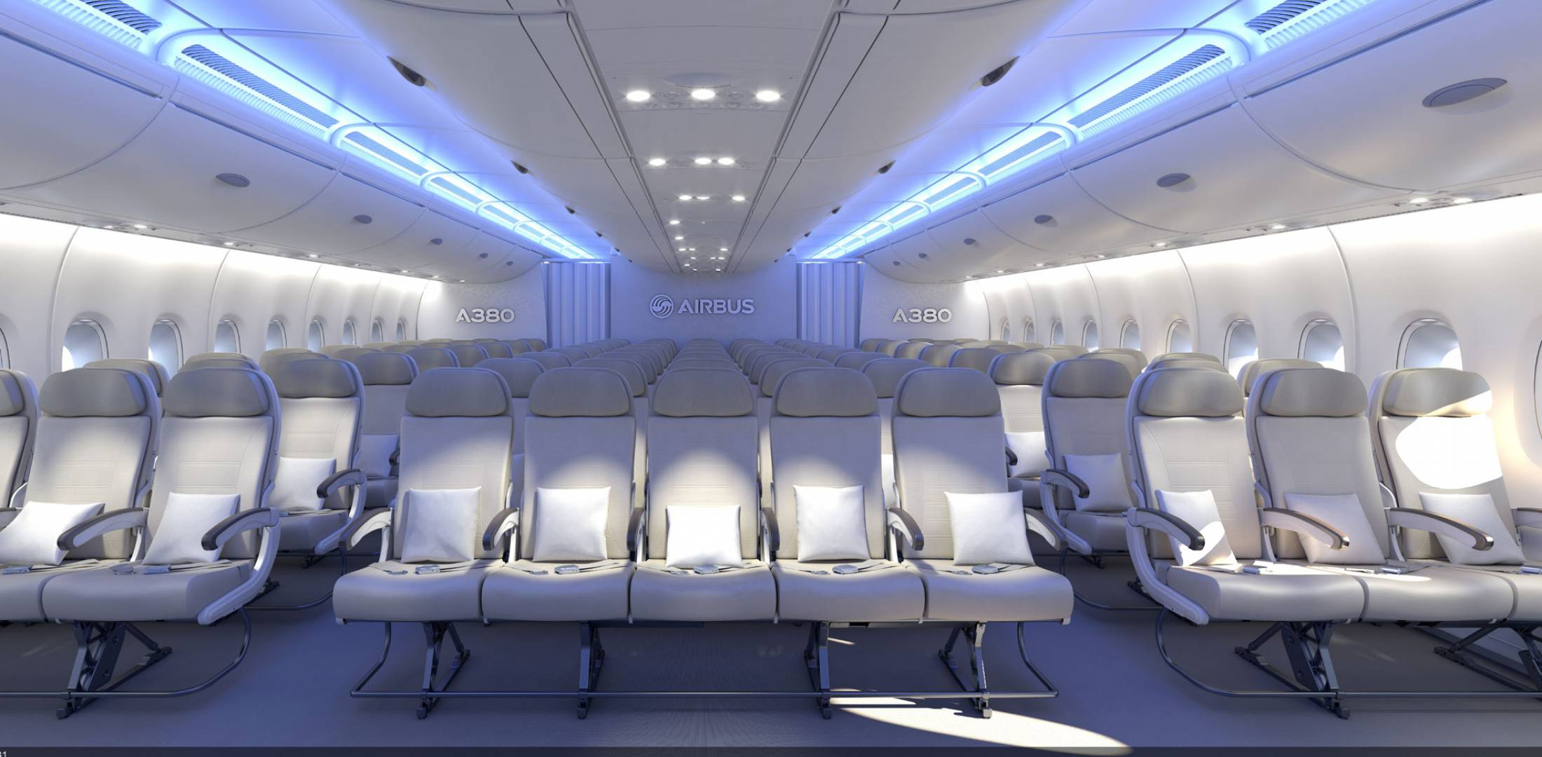 Airbus adds more economy seats aerospace news aviation for Airbus a380 interior
