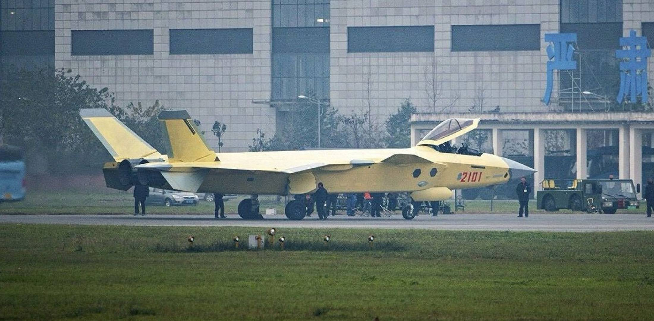 J-20 fighter on the ground