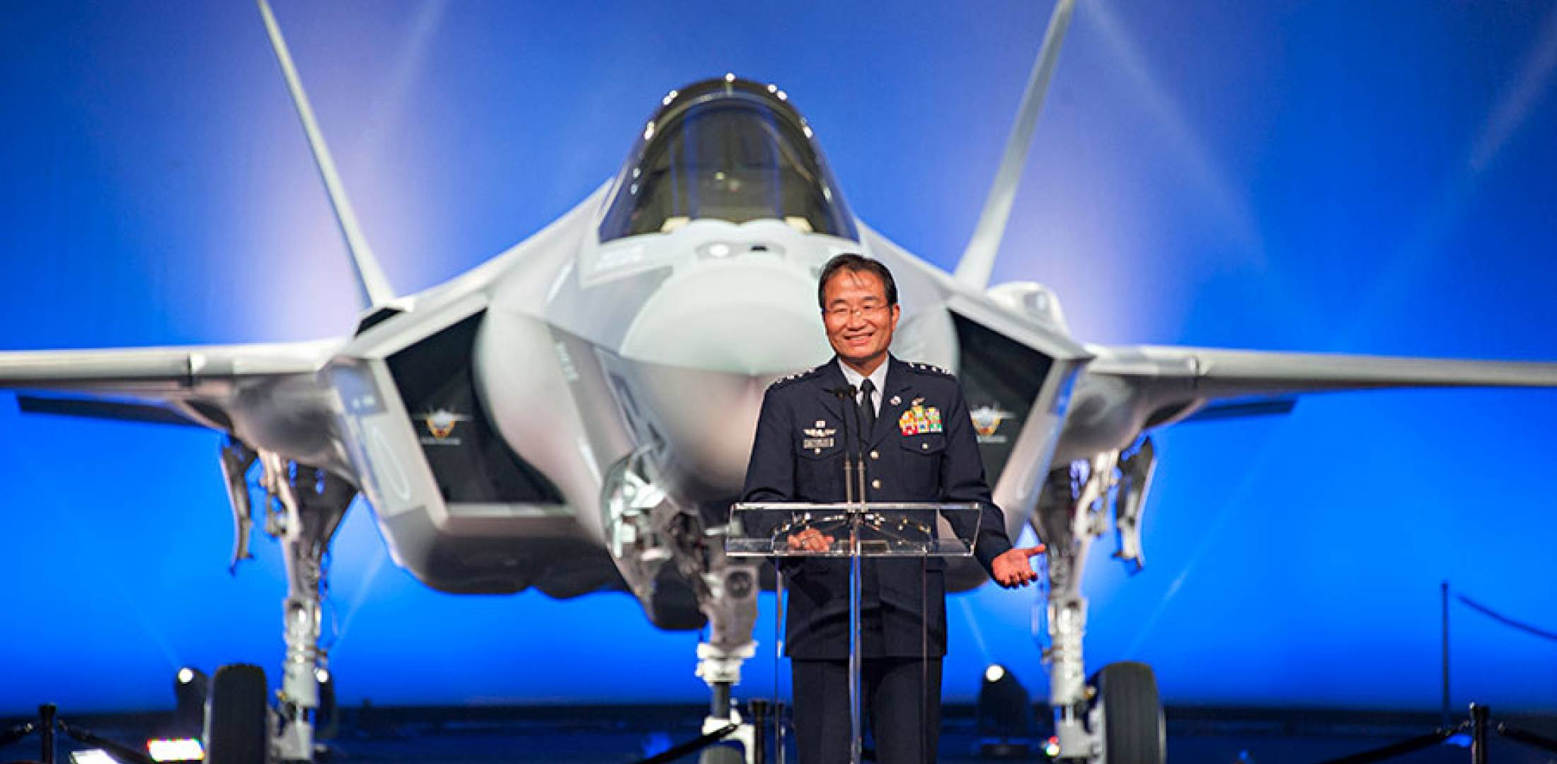 Attractive The Chief Of The Japan Air Self Defense Force (JASDF) Gen. Yoshiyuki  Sugiyama, At The Rollout Ceremony In Fort Worth. (Photo: Lockheed Martin)