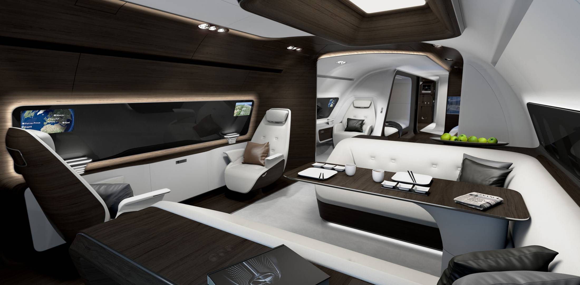 lufthansa technik unveils mercedes bizliner cabin designs business aviation news aviation. Black Bedroom Furniture Sets. Home Design Ideas