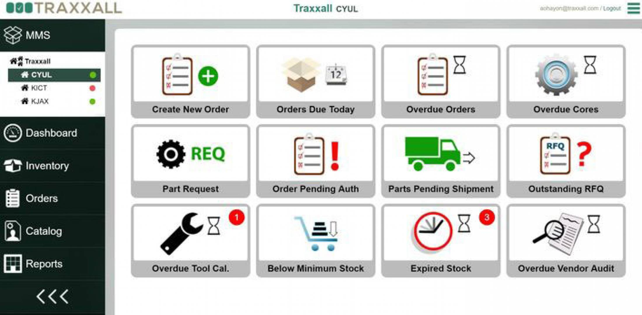 Traxxall To Debut New Parts Inventory Tracking Software